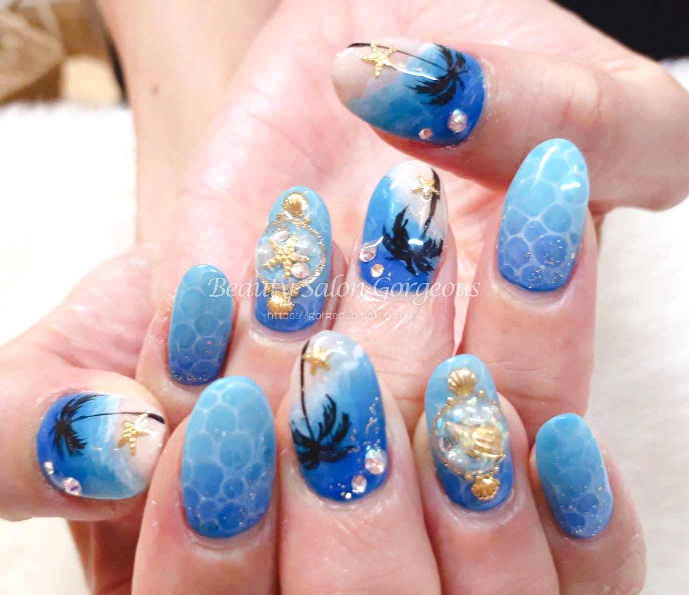 ネイル施術例をアップしました。 | 沖縄や那覇で脱毛・ネイル・マツエグするなら【Beauty Salon Gorgeous】
